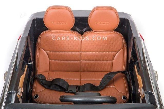 Электромобиль VOLVO XC90 черный (АКБ 12v 10ah, колеса резина, сиденье кожа, пульт, музыка)