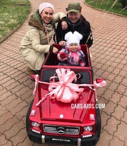 Электромобиль Mercedes-Benz G65 AMG красный (колеса резина, сиденье кожа, пульт, музыка)
