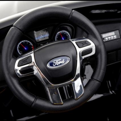 Электромобиль Ford Focus RS F777 черный (колеса резина, кресло кожа, пульт, музыка)