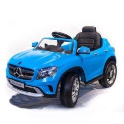 Электромобиль Mercedes Benz GLA синий (колеса резина, кресло кожа, пульт, музыка)