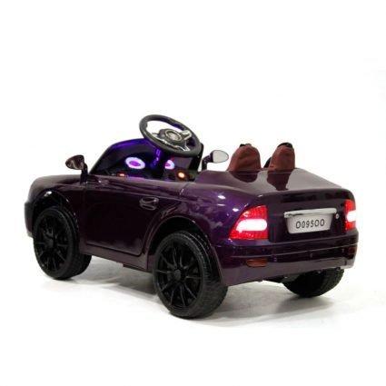 Электромобиль Лада Priora O095OO баклажан (колеса резина, кресло кожа, пульт, музыка)